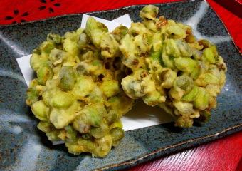 だだちゃ豆の天ぷら